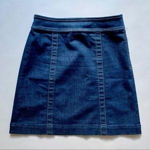 Ann Taylor Loft Dark Denim A Line Skirt